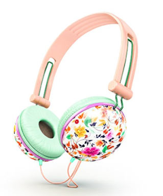 ankit_pastel_peach_pink_floral_noise_isolating_headphones
