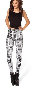 book_lovers_newspaper_print_leggings