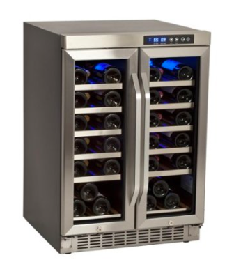 edgestar_36_bottle_stainless-steel_built_in_dual_zone_french_door_wine_cooler