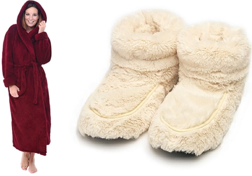 fuzzy_plush_robe_slippers