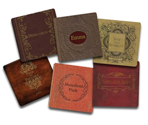 jane_austen_books_coaster_set
