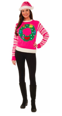 light_up_wreath_ugly_christmas_sweater