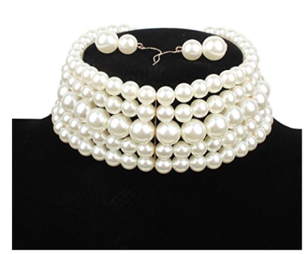 pearl_multi_strand_choker_necklace_set