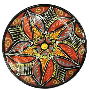 terracotta_plate_star_design_hand_painted_spain