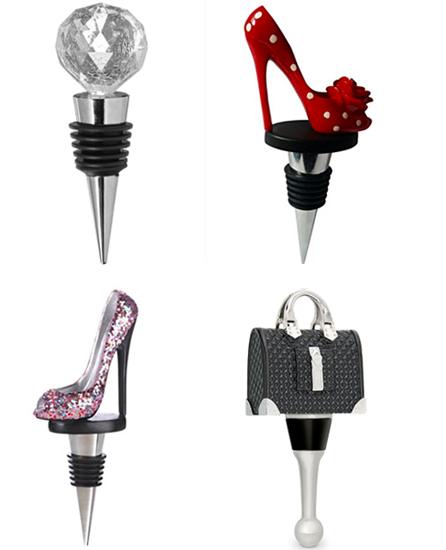 unique_wine_bottle_stoppers_high_heels_handbag_glitter_gift