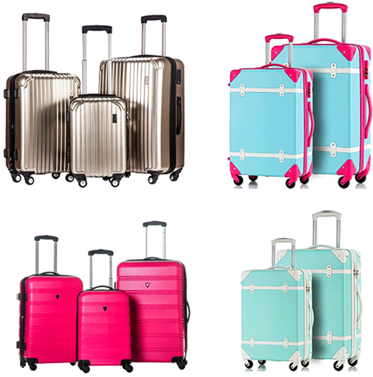 vintage_merax_spinner_colorful_luggage_pink_blue_gold